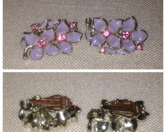 Anniversary Sale Sarah Coventry Vintage Flower Earrings