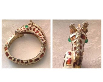 Anniversary Sale Cool Vintage Giraffe Bangle Bracelet