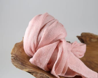 Newborn Photo Props, Stretch Baby Wrap, Photography Props, Baby Photo Prop, Knit Fabric Wrap, Newborn Girl Swaddling Prop, Grapefruit Lux