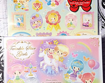 Kawaii Twinkle Star Girlsletter set - full letter set - kamio