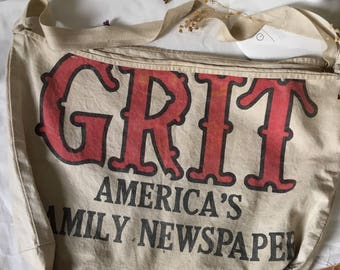 vintage grit newspaper bag 60s