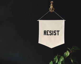 Resist Banner, flag, pennant, wall hanging