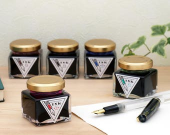 Wancher Colorful Japan Fountain Pen Ink Bottle 30 ml Collectible