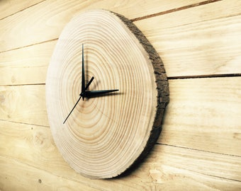 Unique wall clocks, Wall clock wood, big clock, rustic wall clock, wood slice clock, unusual wall clocks,Large wall clock