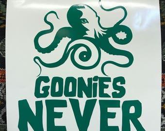 Goonies Never say Die decal / sticker #2
