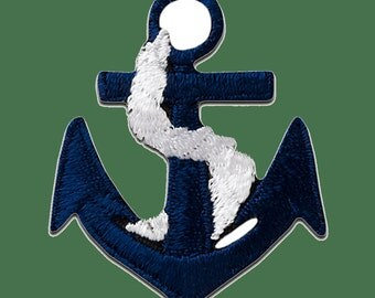 Patch/Bracket-anchor-blue-3.5 x 3.1 cm-by catch-the-Patch ® patch appliqué applications for ironing application patches patch