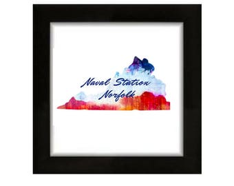 Custom Duty Station Prints- Patriotic Prints- State Prints- Military Decor- Home is Where the Military Sends You