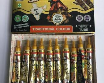 10 Quality Black Henna Paste Tubes Temporary Tattoo Body Art Mehendi Ink!!  Free Storage Bag