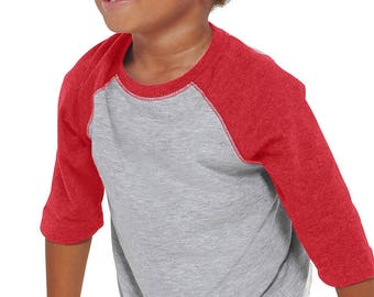 Toddler Raglan 3/4 T-shirts Upgrade for Any Order.