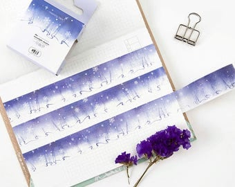 Purple Curtain Washi Tape - Planner, Journal, Craft, Scrapbooking, Decoration