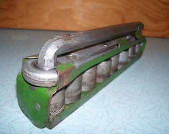 Antique socket set in case