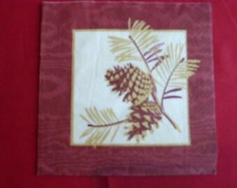 "paper towel theme Christmas ""pinecones"""