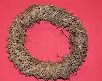 Christmas ornament: natural wreath