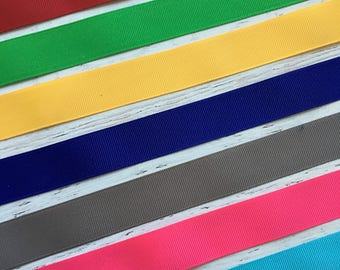 7/8 Solid Ribbon - Primary Colors Solid Ribbon