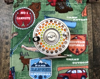 Fly Fishing Reel Bag Jammy/Back Country