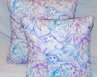 Nerdipillows Handmade Handsewn Ariel the Little Mermaid Pillow