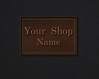 Leather Banner Set, Shop Banner, Etsy Shop Banner, Premade Banner Set, Custom Banner, Graphic Design, Banner Design, Etsy Banner Set
