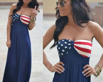 4th of July Dress - Women's Clothing - Independence Day - 4th July