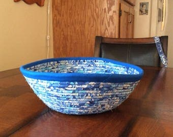 Fabric and cord bowl .