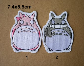 Totoro patches, Cartoon patches, My Neighbor Totoro patch, DIY Embroidery patch, Embroidered Applique patches, sew on patch, WS-242
