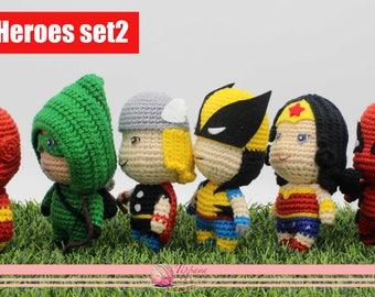Crochet pattern of Super heroes set2