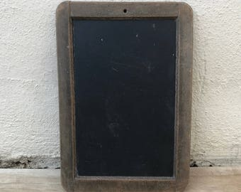 Vintage Childs blackboard,slate chalk board,old school french wood 17011832