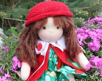 FREE SHIPPING! Waldorf doll, waldorf baby doll, natural fiber doll, Steiner doll, cloth doll, Waldorf inspired doll, cuddle doll