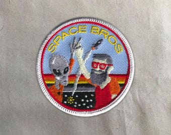 Outer Space Patch | Sew on | Embroidery | Patches for Jackets | UFO Patch | NASA Patch | Ufology Patch | Tumblr Patch | Cute Patch