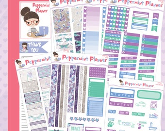 H Planner Dragonfly Weekly Stickers #06