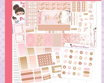 Mini H -- Wedding Bride Mini H Planner Stickers --#08