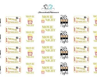 Movie Night Planner Sticker/Movies Planner Sticker/Movie Night Sticker/Movies Planner Sticker