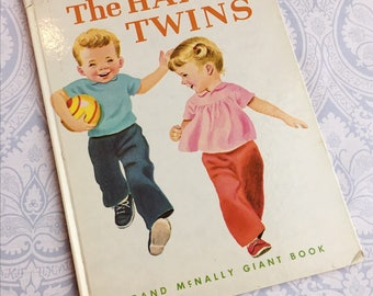 The Happy Twins Book / Rand McNally Giant Book / Helen Wing / Marjorie Cooper / 1966