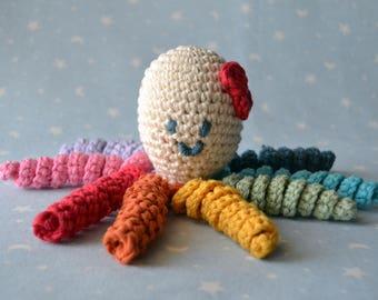 Amigurumi Octopus, Octopus crochet, Octopus baby, newborn Octopus, newborn baby girl, newborn baby boy, multicolor