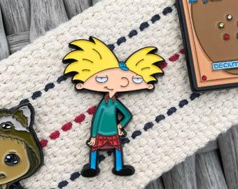 Hey Arnold Soft Enamel Pin - Nickelodeon Soft Enamel Hat Pin
