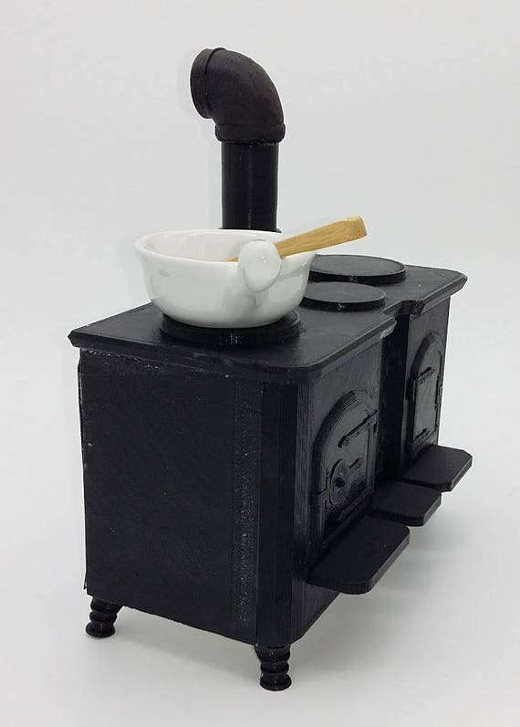 Wood burning cook stove for for Ball jointed Zisa Doll