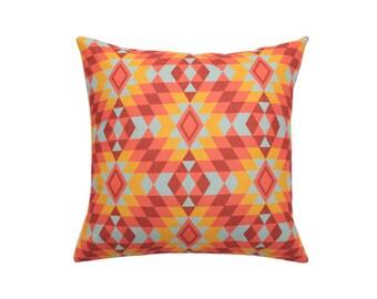 Aztec decorative pillow cover Ethnic throw pillow covers Tribal pillow case Navajo pillow case Linen cushion case Sofa home decor gift 18x18
