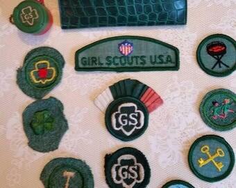 Vintage 1950's Girl Scout Patch Lot 12PC