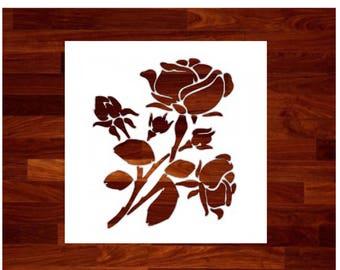 Roses Custom Stencil