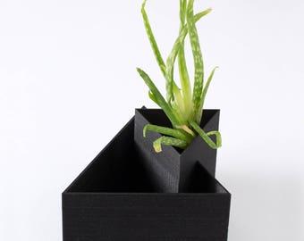 Tabletop Planter, Air Plants, Tillandsia, Desk, Cactus, Succulent, Desk Organizer, Geometric Planter, Interior Design, 3D Printed