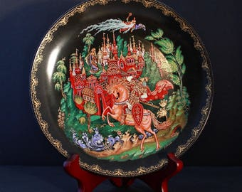 "Bradford Exchange Russian Legends Plate #1 ""Rusian And Ludmilla"""