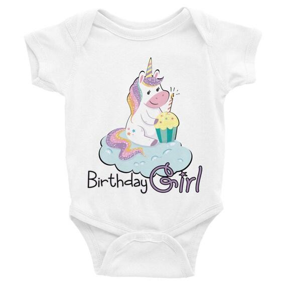 Unicorn 1St Birthday Outfit Infant Bodysuit, Baby Onesie, Baby Bodysuit, Baby Birthday Outfits for Girls, Birthday Outfit, Baby Girl Outfit