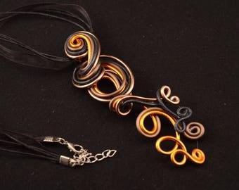 Destash: Orange, Brown and black necklace