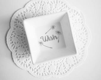 Ring Dish, Customized Ring Dish, Ring Holder, Jewelry Holder, Trinket Dish, Wish Dish