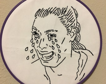 Kim K Cry Embroidery Hoop