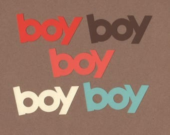 10 Boy  Die Cuts for Paper Crafts Canyon Colors Colors Set #5553