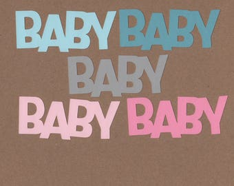 10 - 1.5inch Tall Baby Die Cuts  Dreamy Colors for Paper Crafts  Set #5561