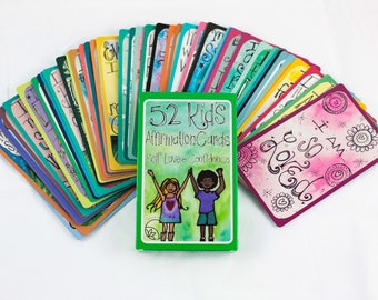 WHOLESALE- 10 decks of Kid's Affirmation Cards for Self Love and Confidence by The Renegade Mama