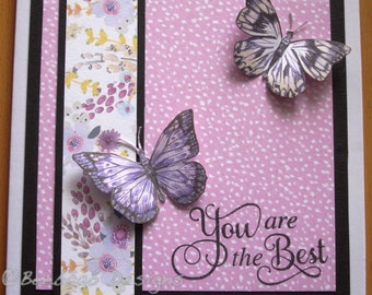 "Handmade female card ""You are the Best"""