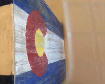 Colorado Flag | distressed | homemade