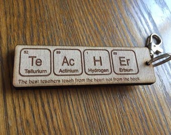 Teacher keyrings